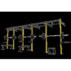 Crossfit Ağırlık istasyonu 3 Lü Duvar Tipi